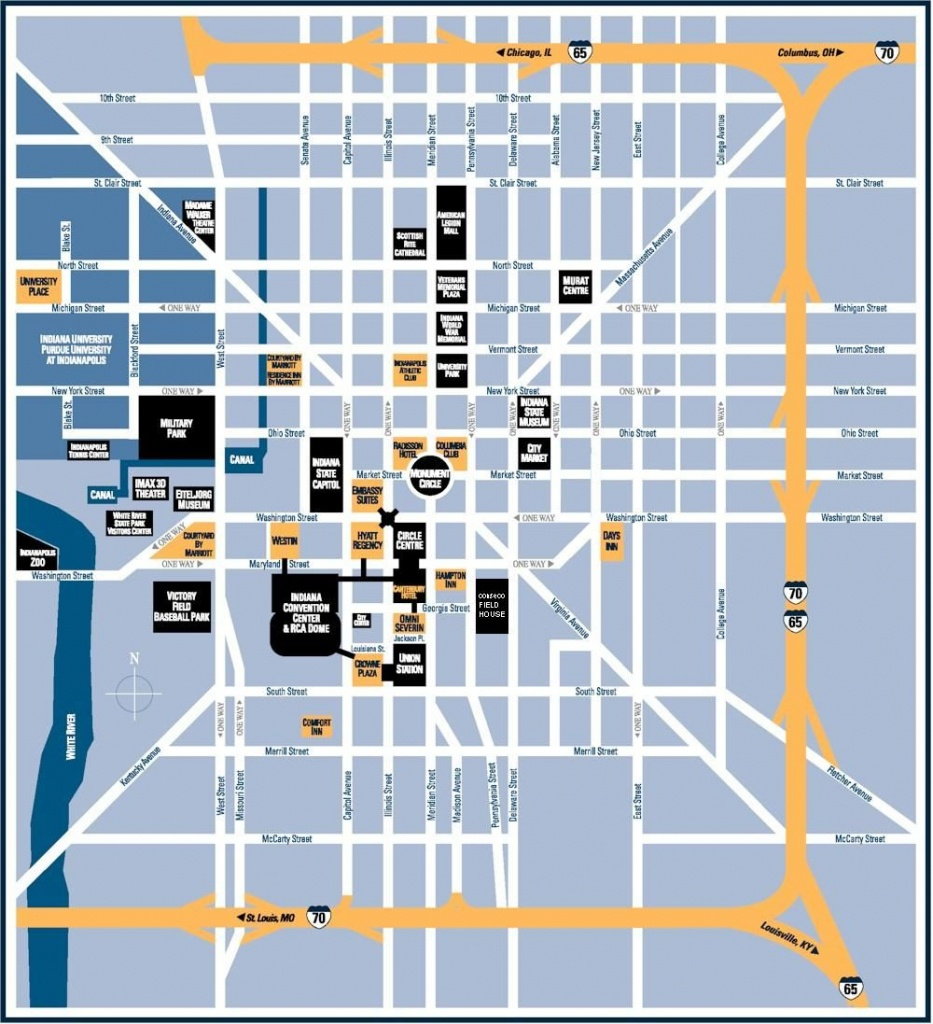 Downtown Indianapolis Indiana | Downtown Indianapolis Smaller Maps - Downtown Indianapolis Map Printable