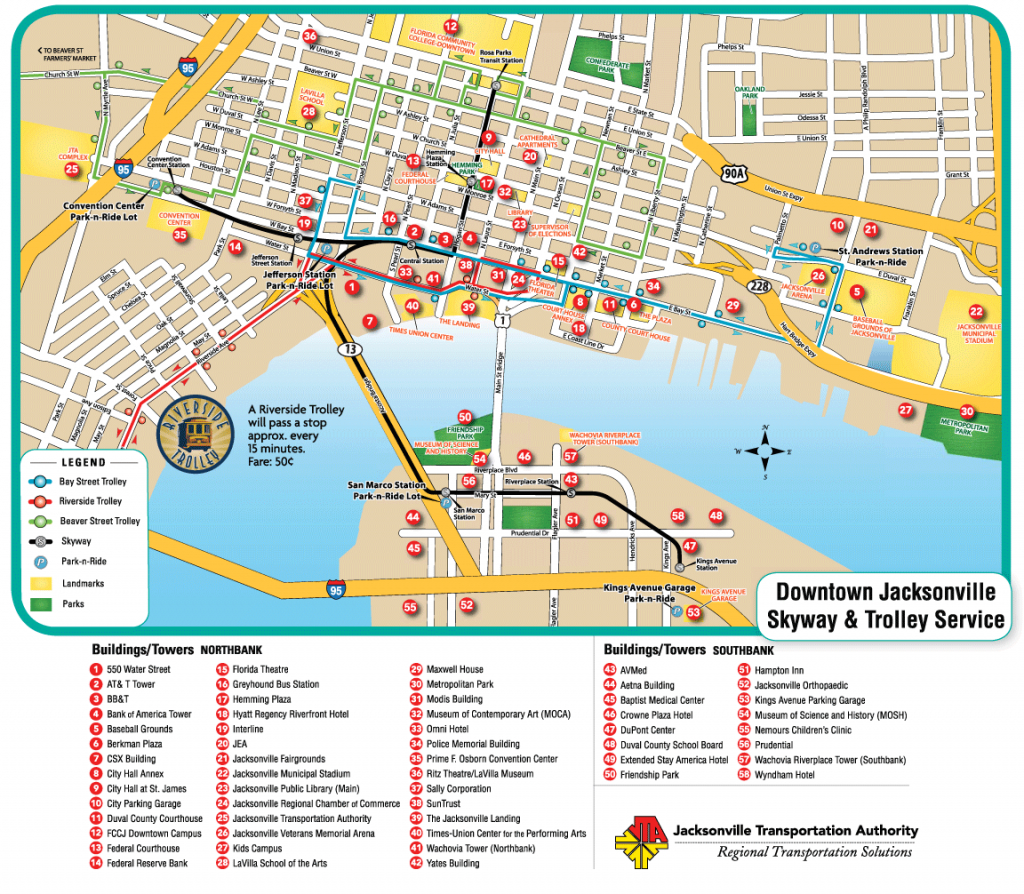 Downtown Jacksonville Nc   Jacksonville Downtown Transport Map - Map Of Hotels In Jacksonville Florida