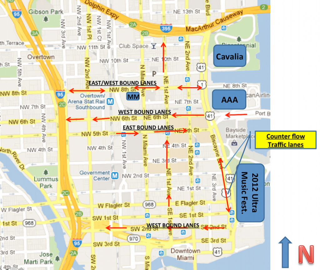 Downtown Miami Map And Travel Information | Download Free Downtown - Street Map Of Downtown Miami Florida