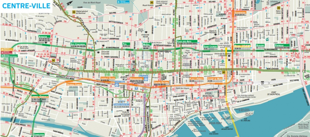 Downtown Montreal Map - Montreal Travel Guide - Printable Map Of Downtown Montreal