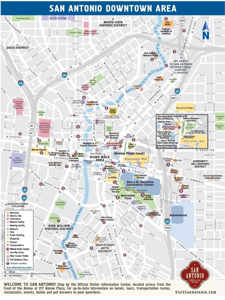 Downtown San Antonio Map - Map Of Downtown San Antonio (Texas - Usa) - Map Of Downtown San Antonio Texas