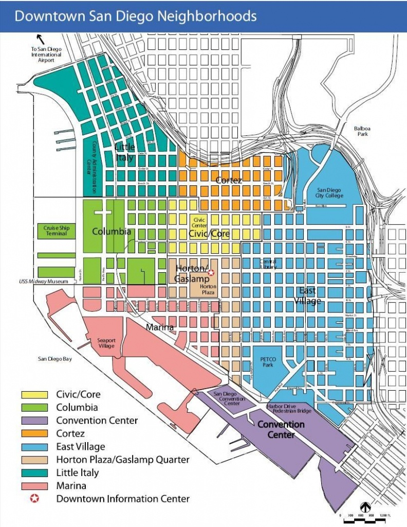 Downtown San Diego Map | I Love San Diego | San Diego Neighborhoods - Printable Map Of Downtown San Diego