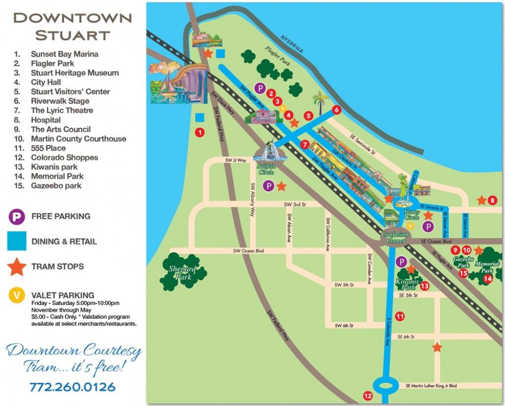 Downtown Stuart, Florida Map - Historic Downtown Stuarthistoric - Street Map Of Stuart Florida