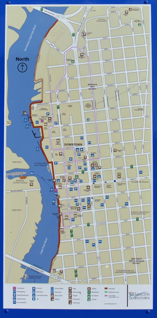 Downtown Wilmington Nc Map | Campus Map - Printable Map Of Wilmington Nc