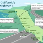 Driving California's Scenic Highway One   California Highway 1 Road Trip Map