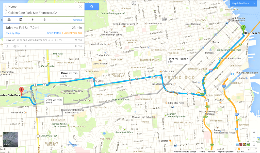 Driving Directions On Google Map - Capitalsource - Printable Directions Google Maps