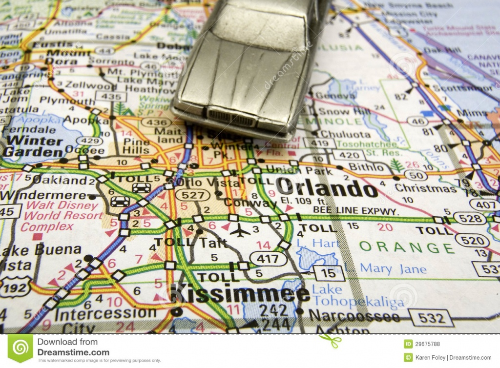 Driving To Disney Stock Photo. Image Of Chauffeur, Guide - 29675788 - Road Map To Orlando Florida