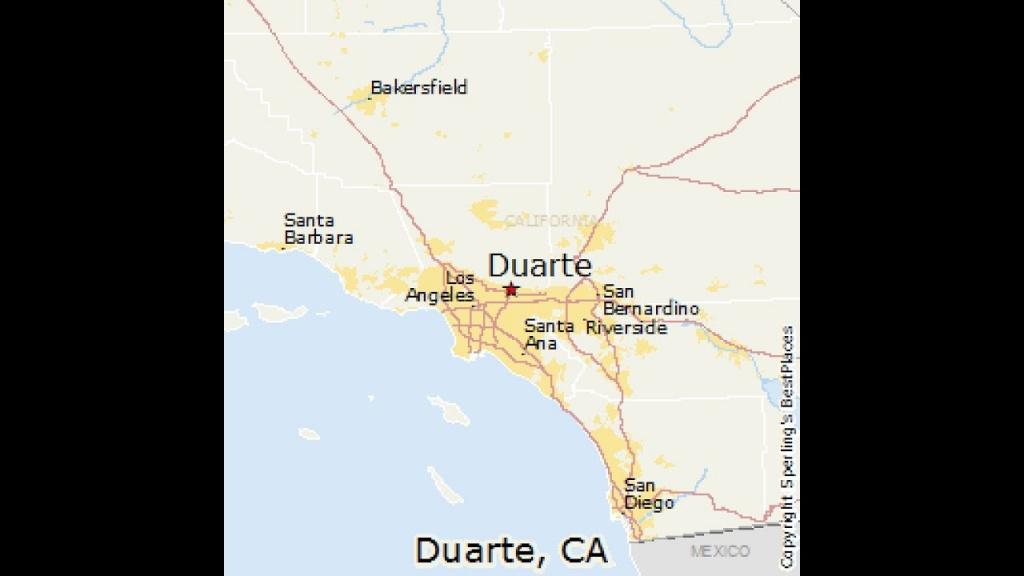 Duarte, California - Youtube - Duarte California Map