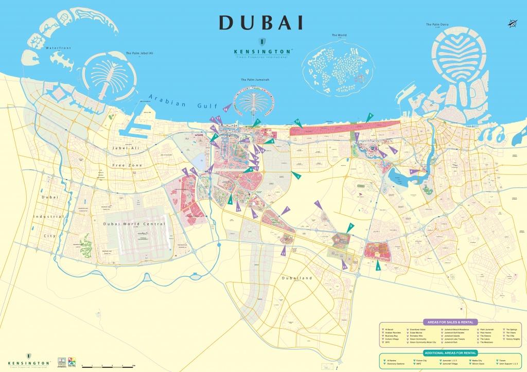 Dubai City Map - Printable Map Of Dubai
