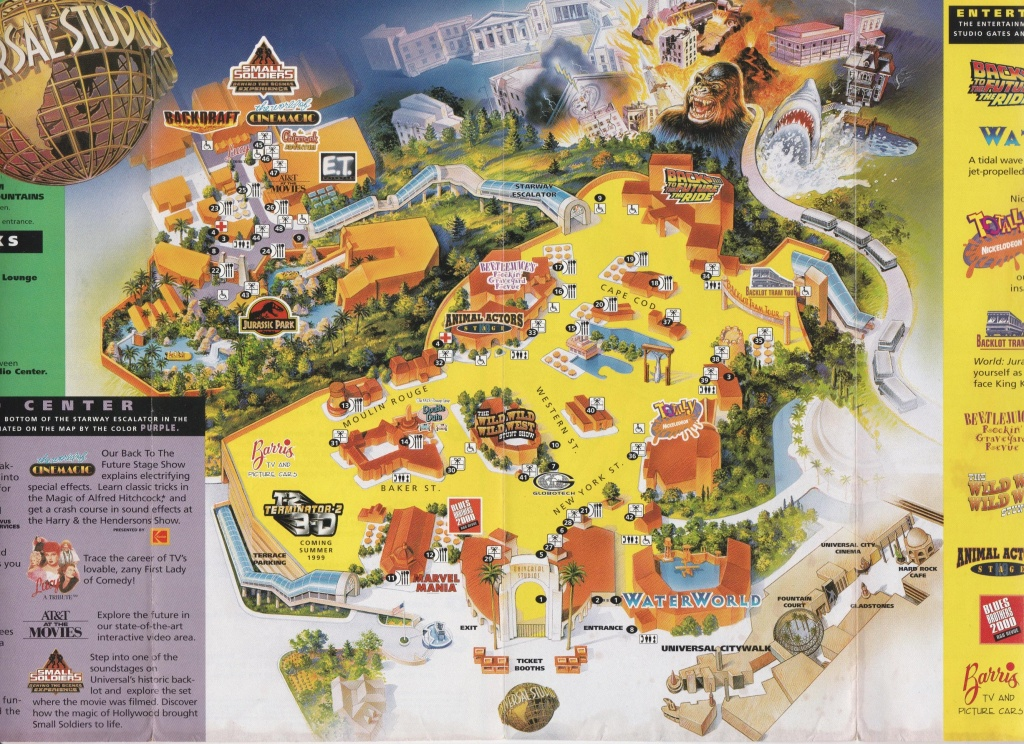 Dug Up Another Old Map, This Time From Universal Studios Hollywood - Universal Studios California Map
