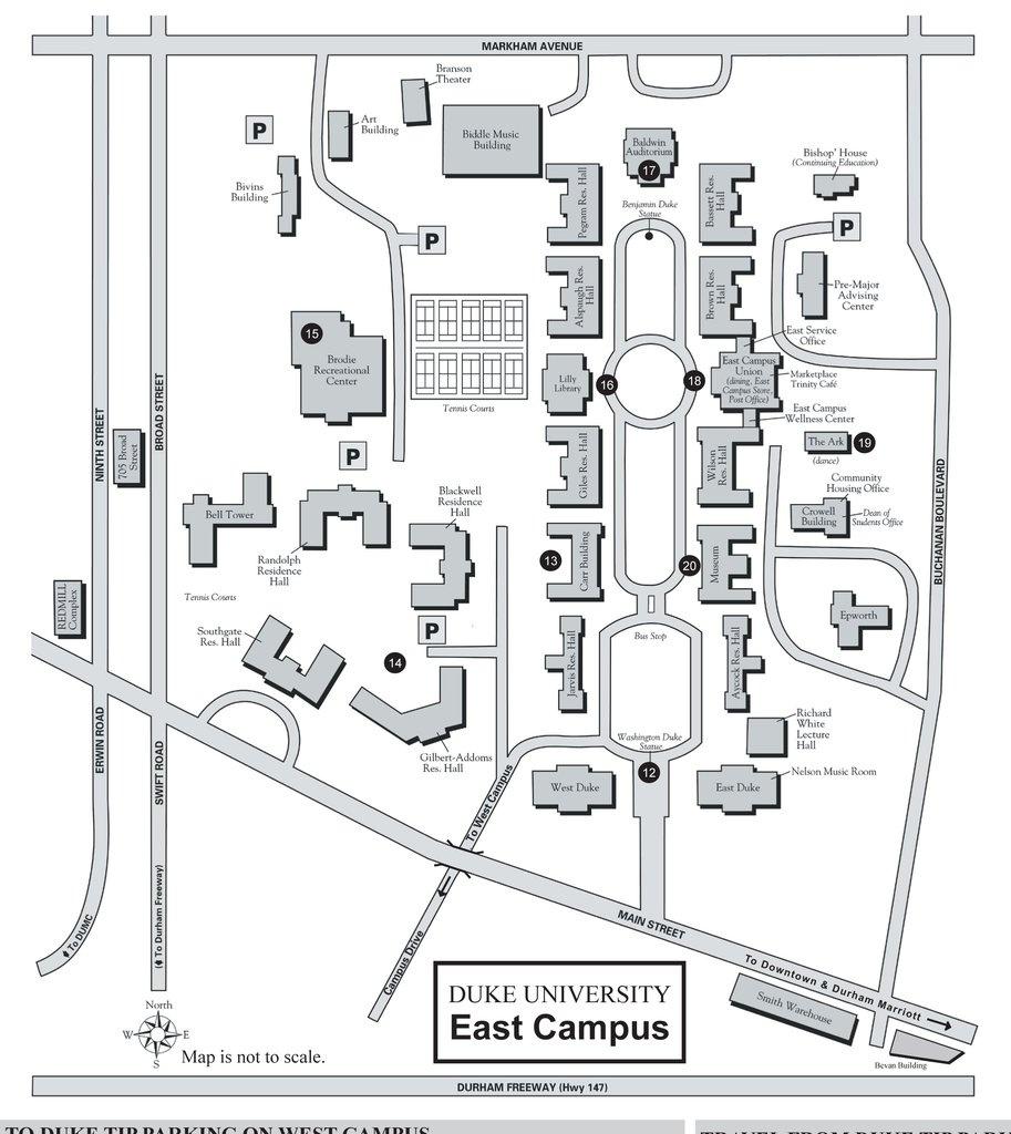 Duke Campus Map Pdf | Europeancytokinesociety - Duke University Campus Map Printable