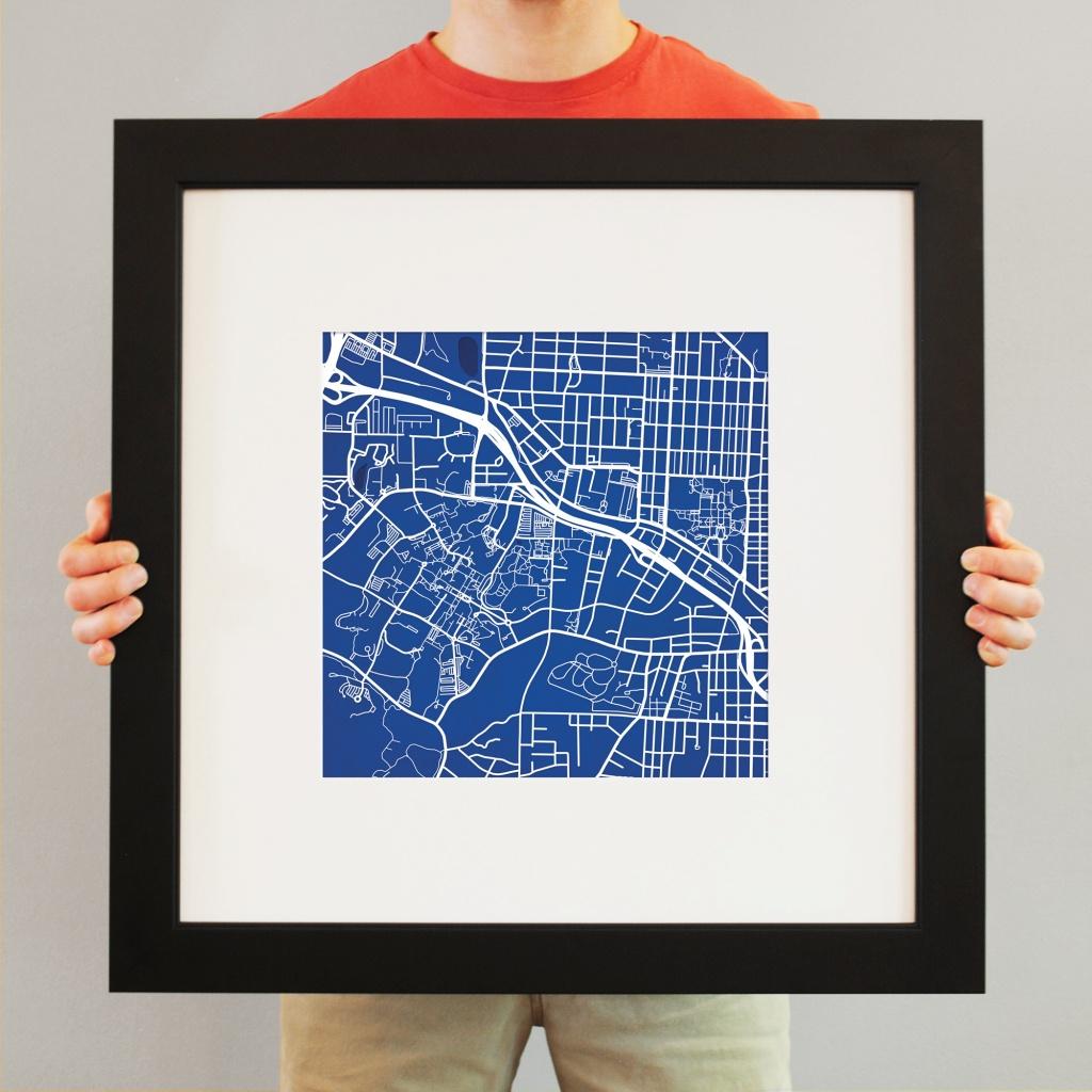Duke University Campus Map Art - City Prints - Duke University Campus Map Printable