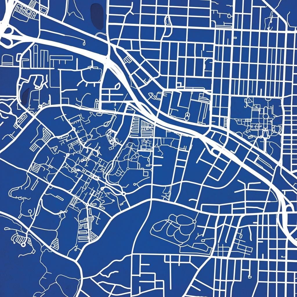 Duke University Campus Map Art - The Map Shop - Duke University Campus Map Printable
