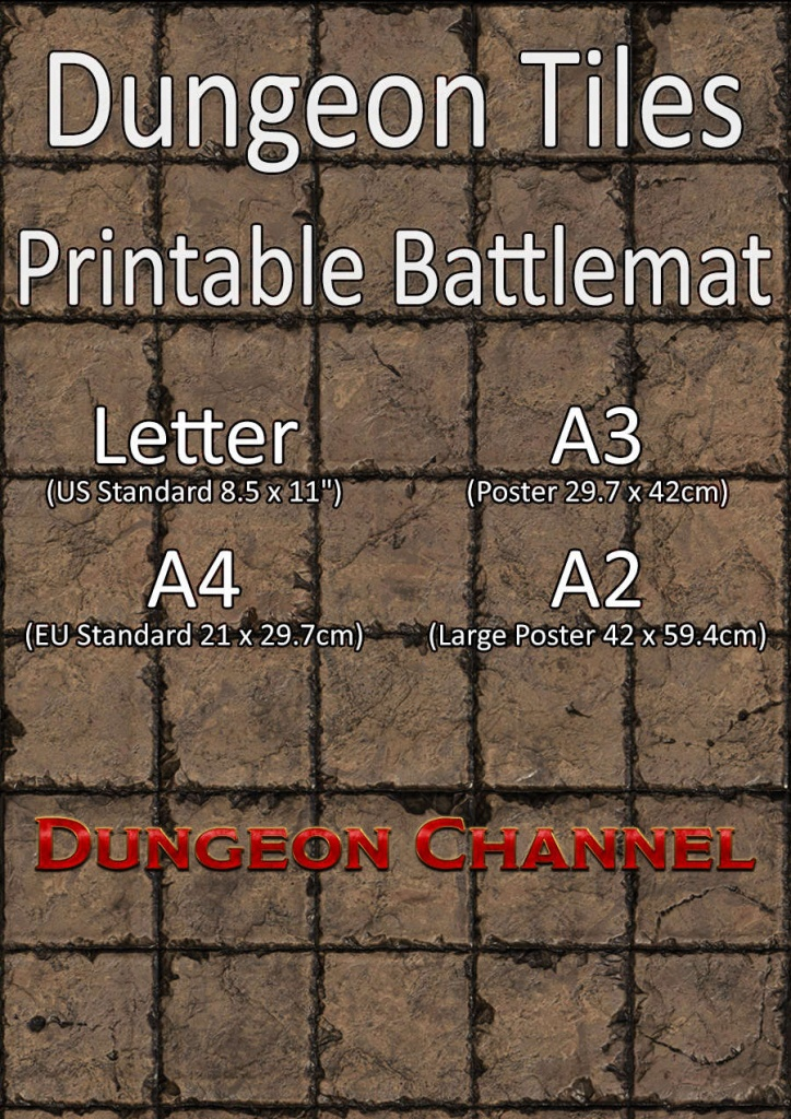 Dungeon Tiles - Printable Battlemat - Dungeon Channel - Printable D&d Map Tiles