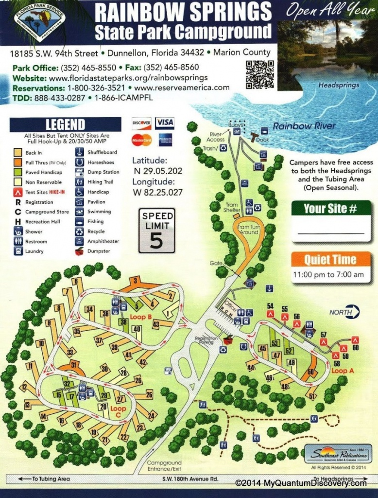Dunnellon, Fl – Rainbow Springs State Park Review – My Quantum Discovery - Florida State Parks Rv Camping Map