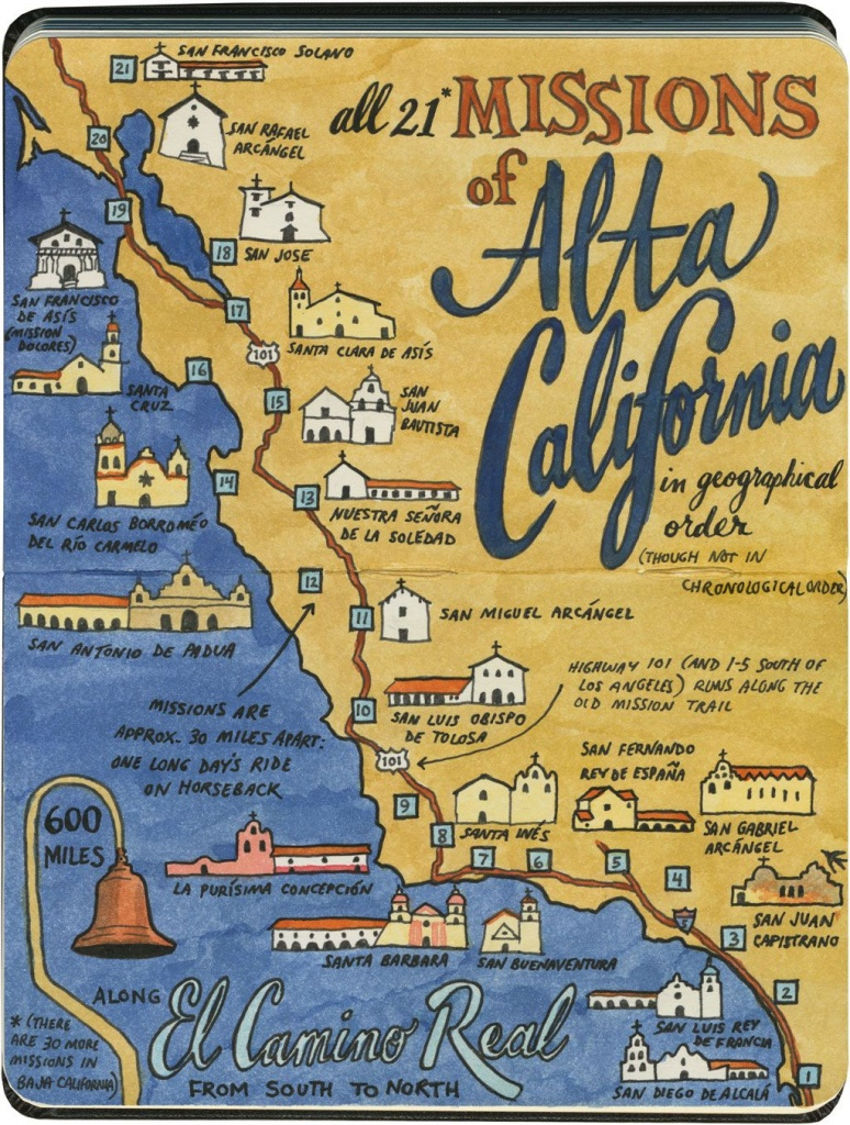 Earlier This Year I Visited All 21 California Missions—And Created - California Missions Map For Kids