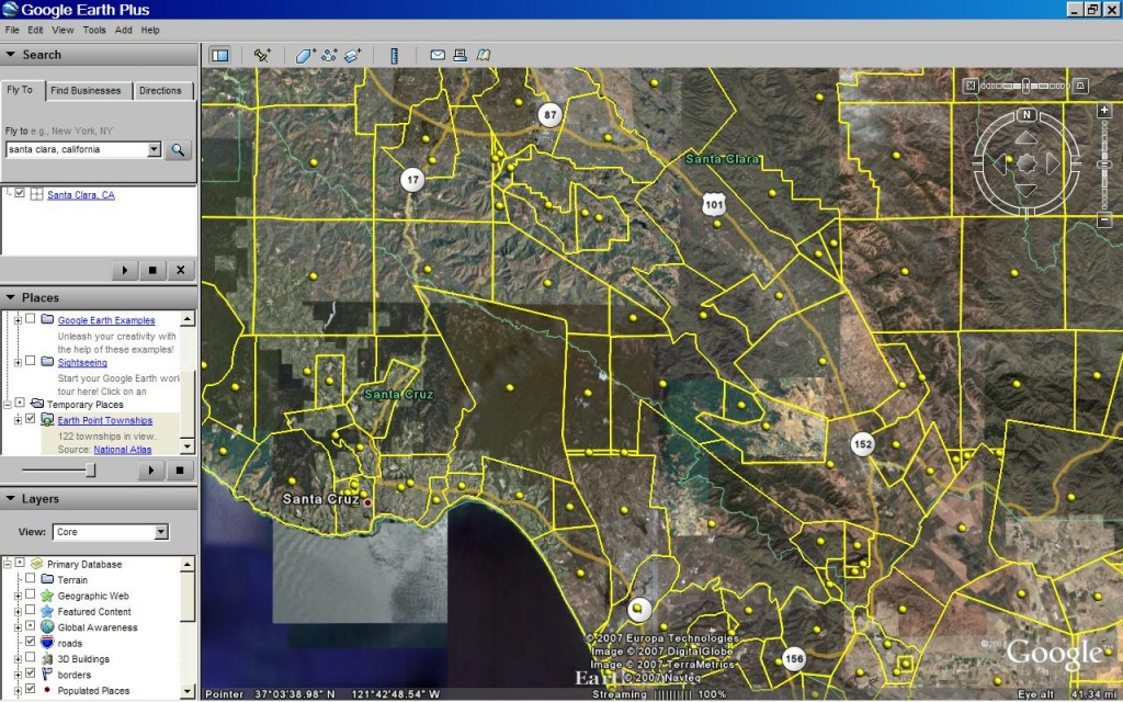 Earth Point Blog: Township And Range - California Township And Range Map