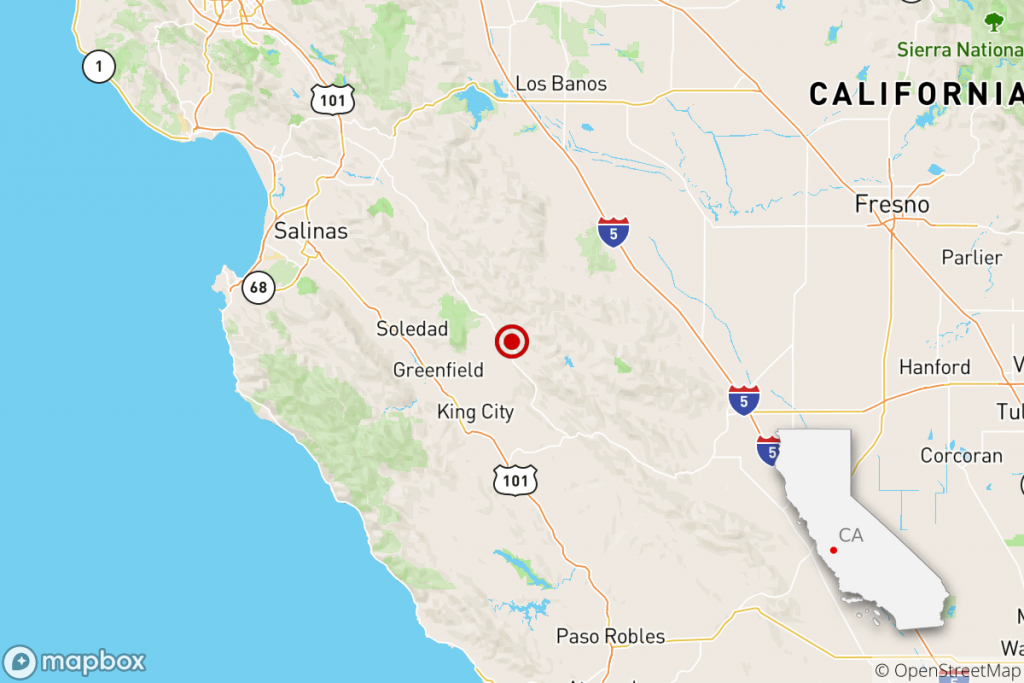 Earthquake: 3.3 Quake Shakes Near Greenfield, Calif. - Los Angeles Times - Usgs California Nevada Earthquake Map