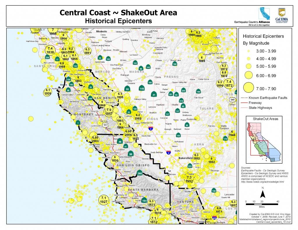 Earthquake Country Alliance: Welcome To Earthquake Country! - California Earthquake Map
