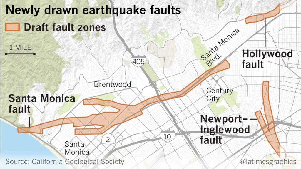 Earthquake Fault Maps For Beverly Hills, Santa Monica And Other - Culver City California Map