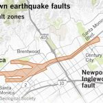 Earthquake Fault Maps For Beverly Hills, Santa Monica And Other   Vernon California Map