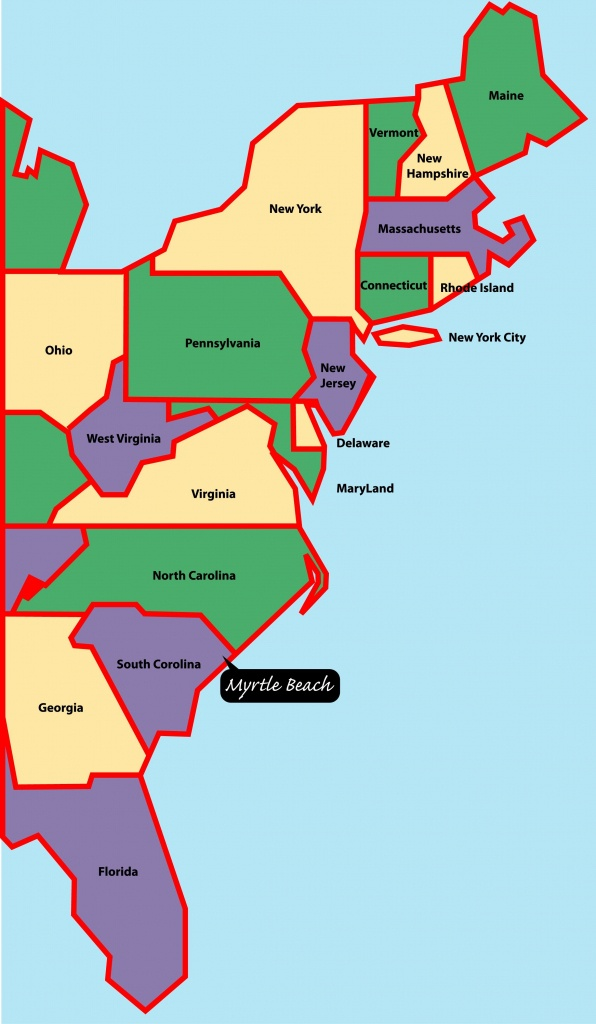 East+Coast+Map | Myrtle Beach Is Situated On The East, Or Atlantic - Map Of Eastern Florida Beaches