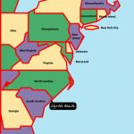 East+Coast+Map | Myrtle Beach Is Situated On The East, Or Atlantic   Myrtle Beach Florida Map