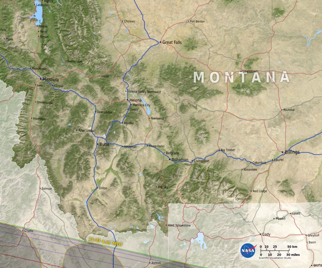 Eclipse Maps   Total Solar Eclipse 2017 - Printable Eclipse Map