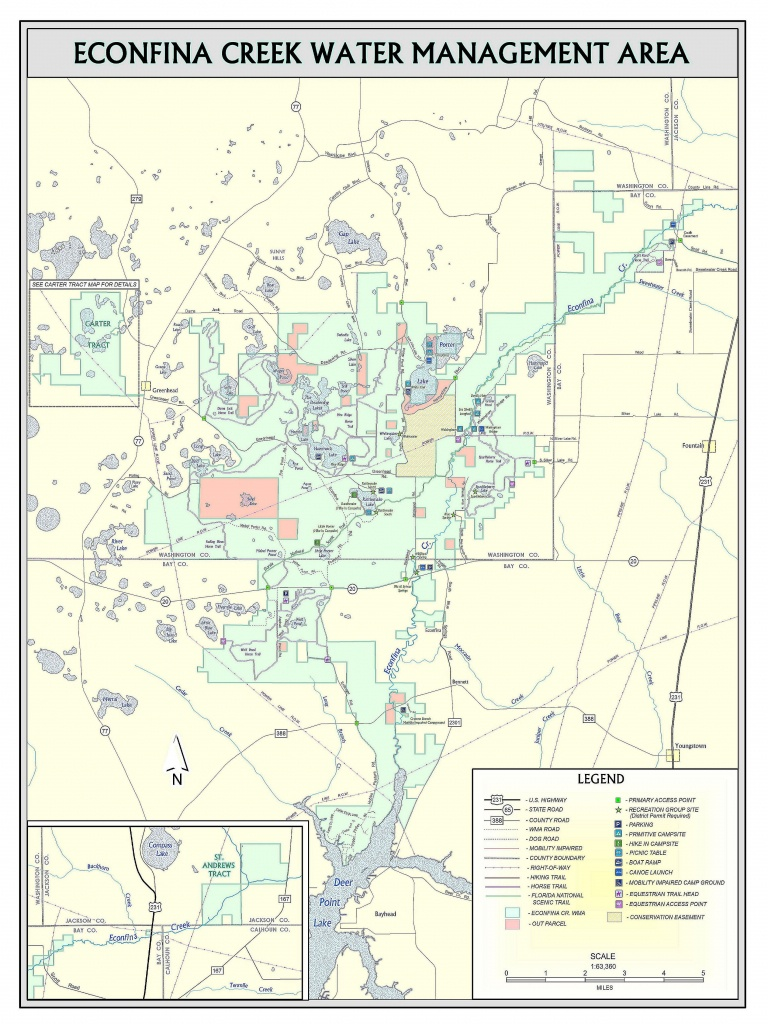 Econfina Creek | Northwest Florida Water Management District - Map Of Natural Springs In Florida