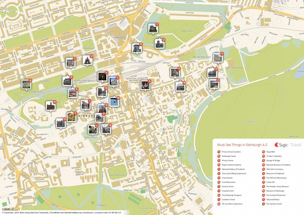 Edinburgh Printable Tourist Map | Sygic Travel - Printable Map Of Edinburgh