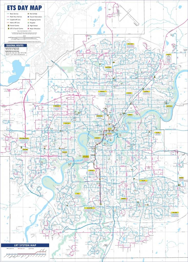 Edmonton Transport Map - Printable Map Of Edmonton