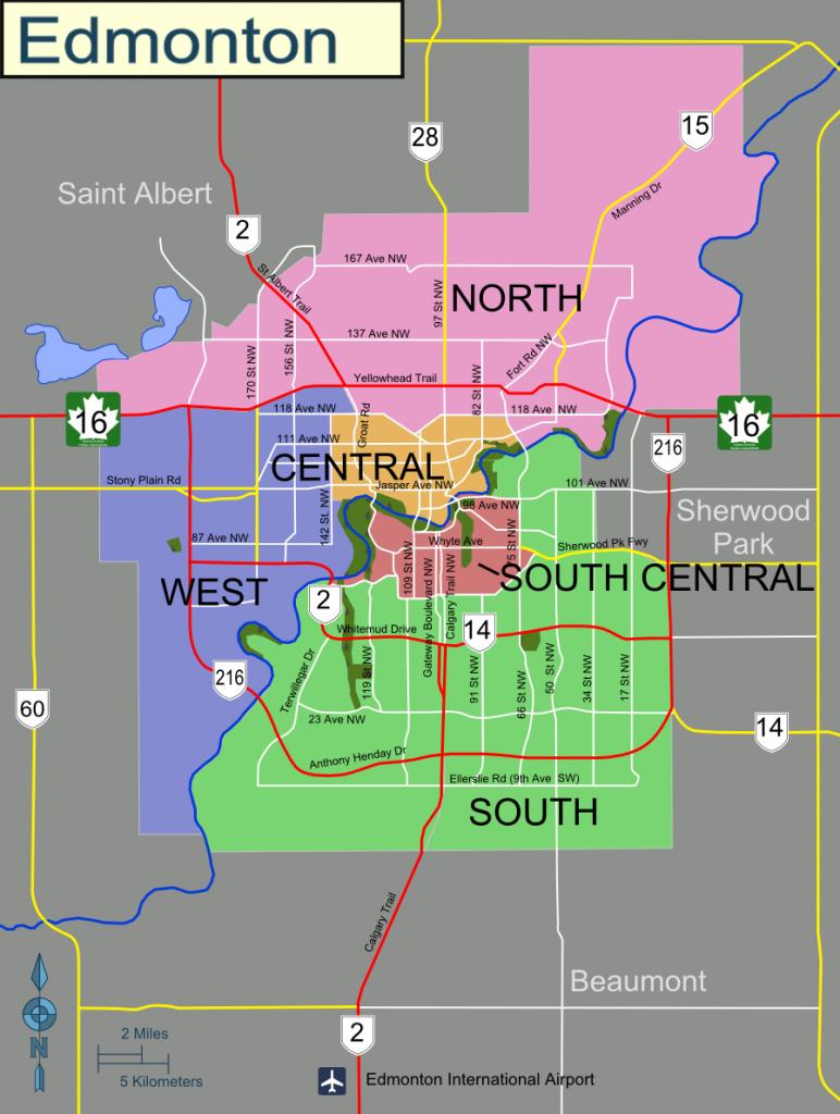 Edmonton – Travel Guide At Wikivoyage - Printable West Edmonton Mall Map
