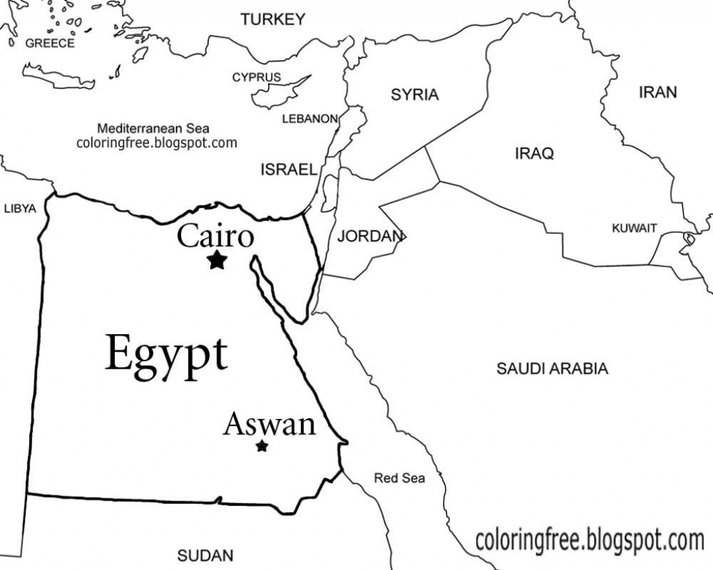 Egypt Map Drawing At Paintingvalley | Explore Collection Of - Ancient Egypt Map Printable
