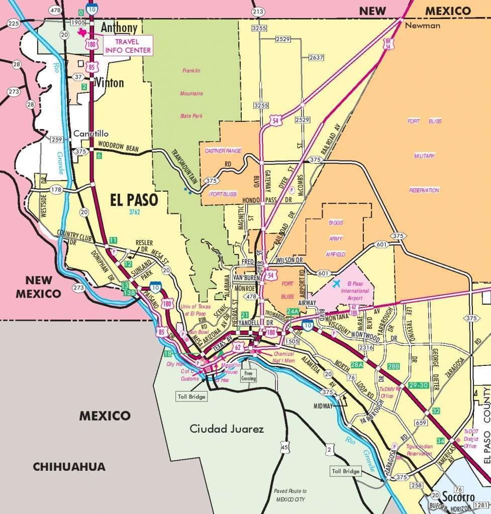El Paso Road Map - Where Is El Paso Texas On The Map