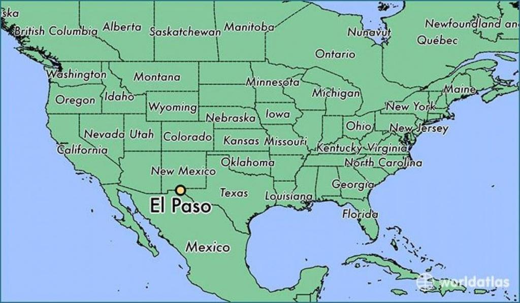 El Paso, Texas) Carte - Carte De El Paso, Texas (Texas - Usa) - Where Is El Paso Texas On The Map
