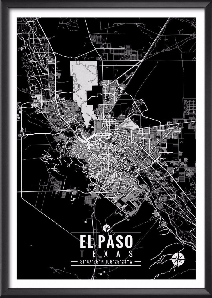El Paso Texas Map With Coordinates In 2019 | Decor | Map Coordinates - Sun City Texas Map