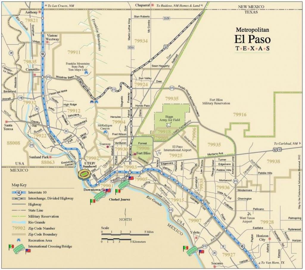 El Paso Tx Carte - Carte De El Paso, Texas (Texas - Usa) - Where Is El Paso Texas On The Map