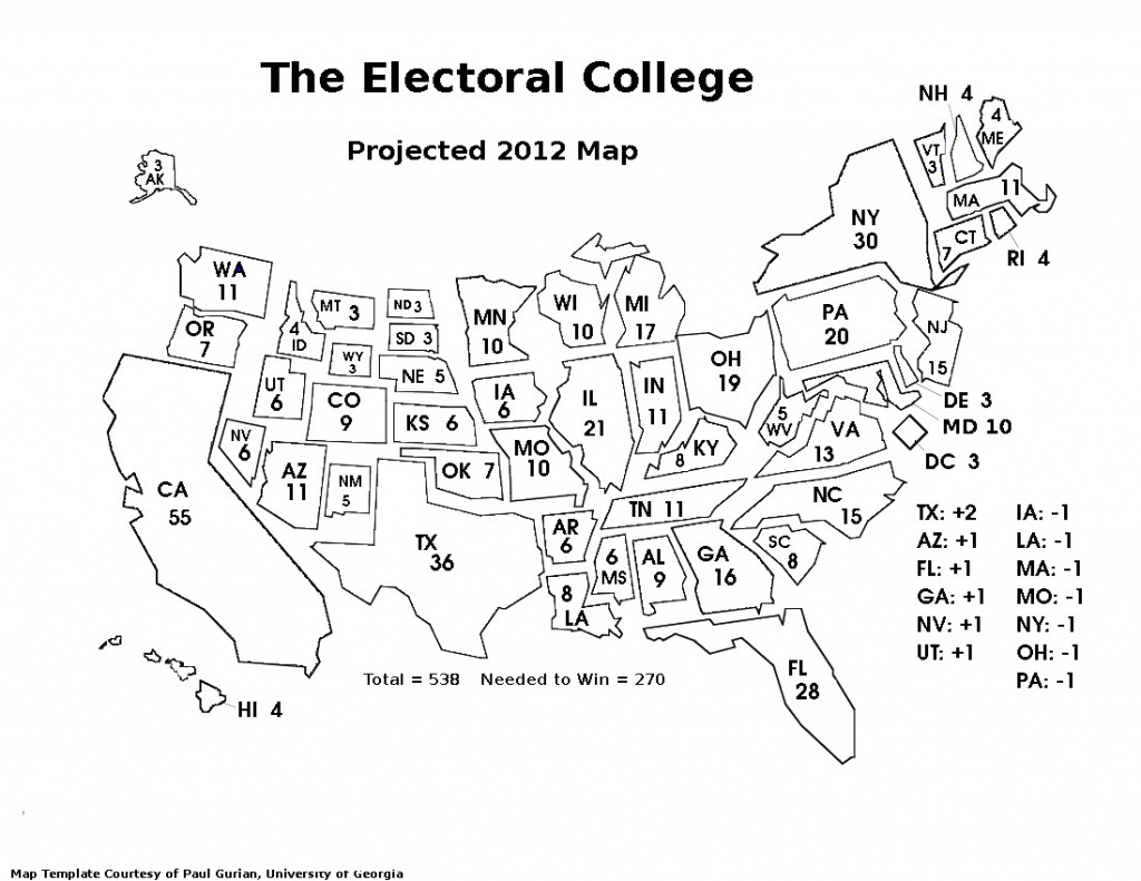 Electoral Map Coloring Page Unique United States With Color Best - Blank Electoral College Map 2016 Printable