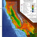 Elevation Map Of California | Historical Maps | California Map   California Elevation Map
