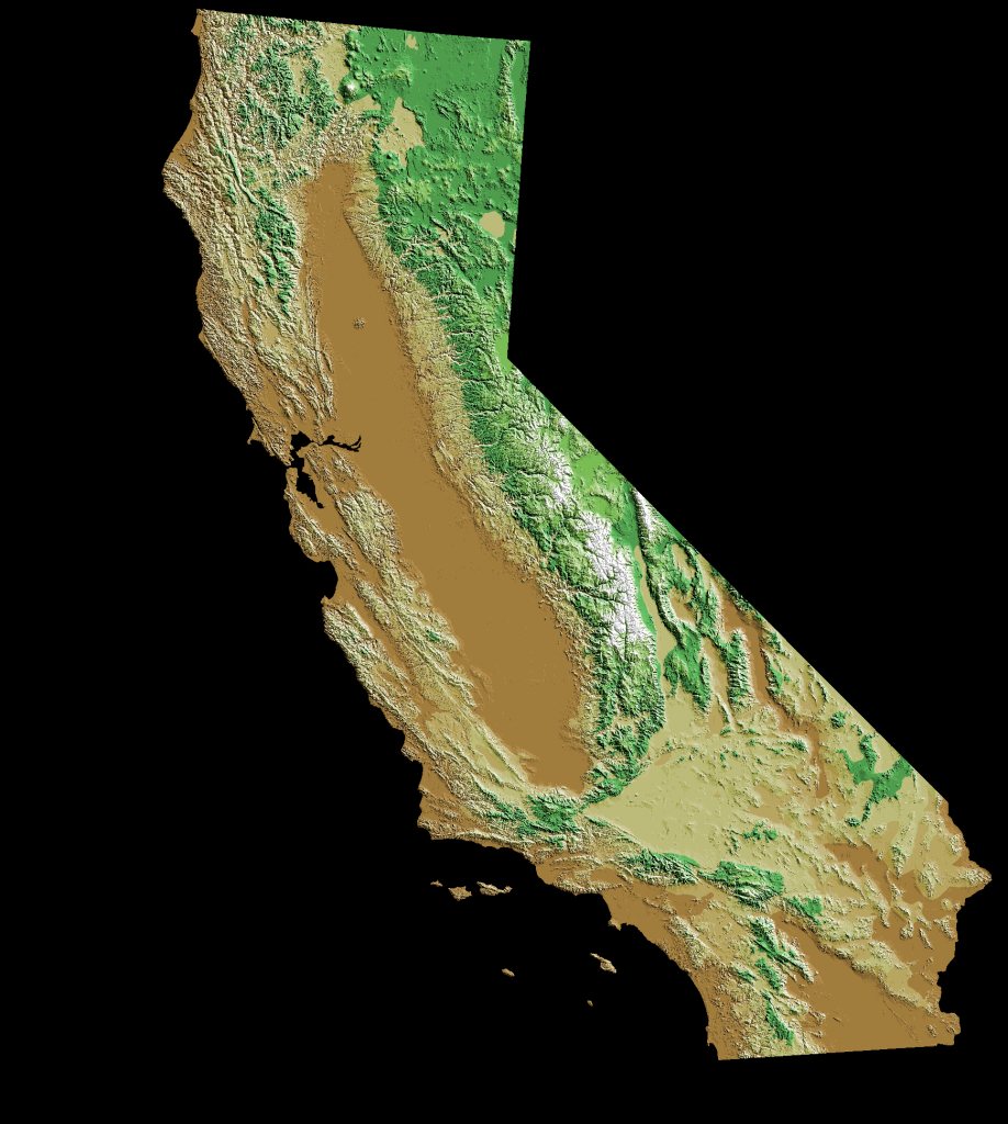 Elevation Map Of California, Usa - Mapsroom | Mapsroom - California Topographic Map