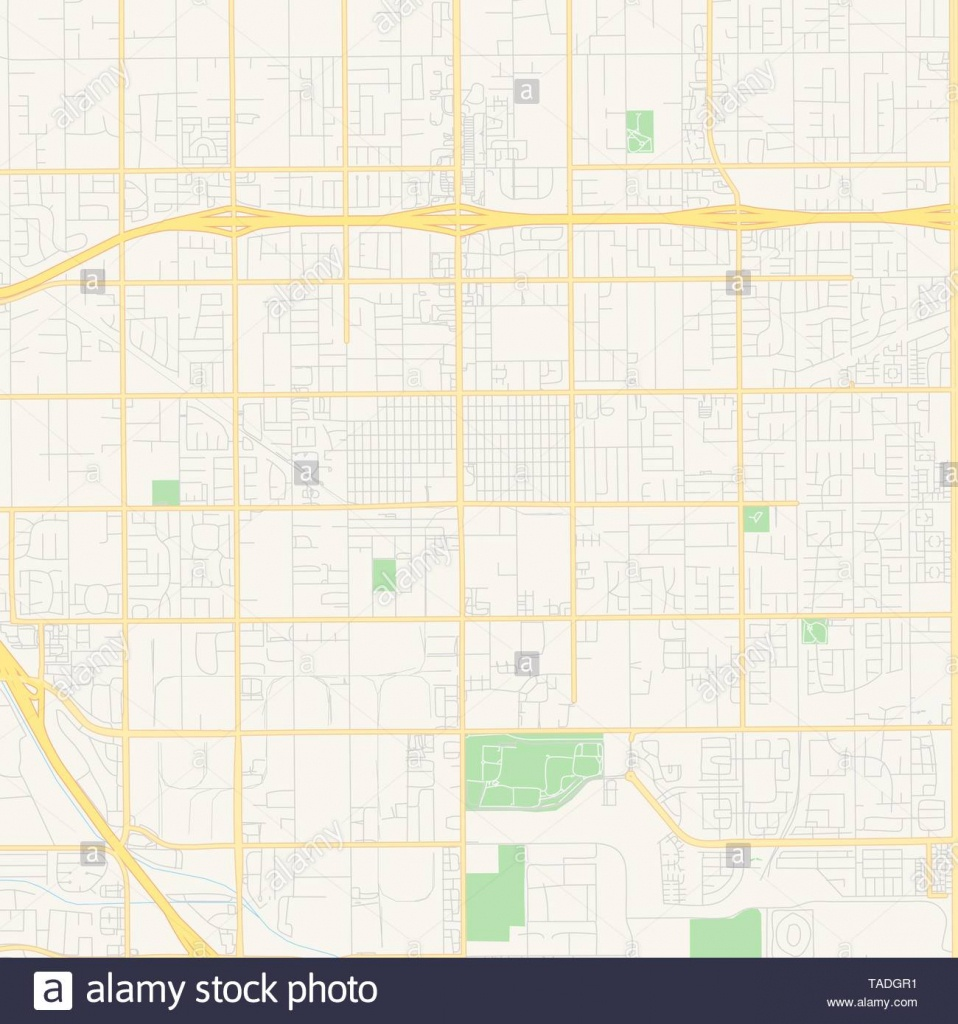 Empty Vector Map Of Chino, California, Usa, Printable Road Map - Chino California Map