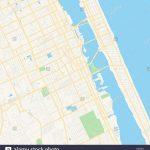 Empty Vector Map Of Daytona Beach, Florida, Usa, Printable Road Map   Map Of Daytona Beach Florida