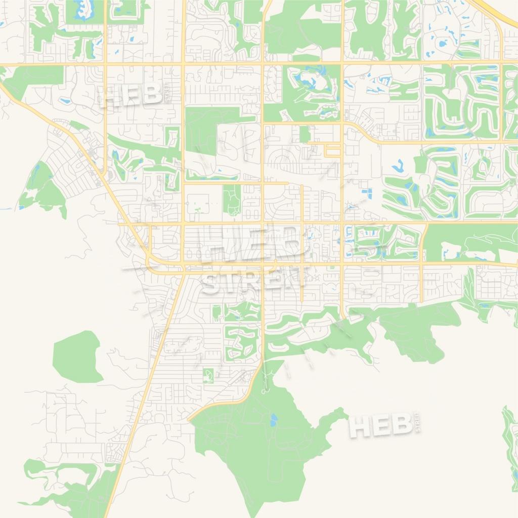 Empty Vector Map Of Palm Desert, California, United States Of - Where Is Palm Desert California Map