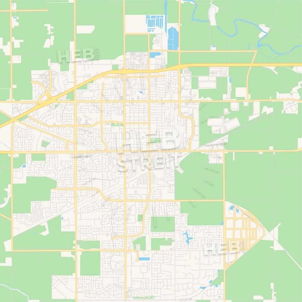 Empty Vector Map Of Tracy, California, Usa | Maps Vector Downloads - Tracy California Map