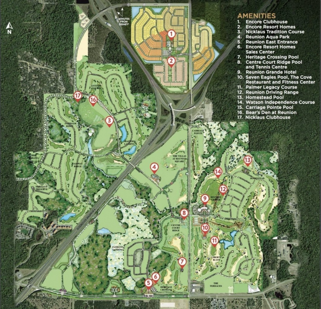 Encore Resort At Reunion - Mitchell Freitas - Reunion Florida Map