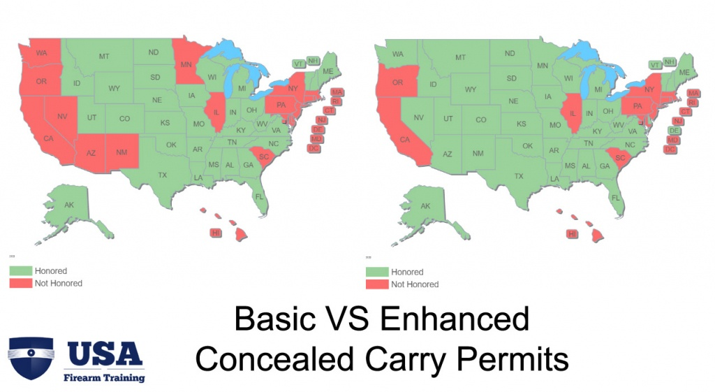Enhanced Permits And Their Role In Concealed Carry Reciprocity - Florida Ccw Map