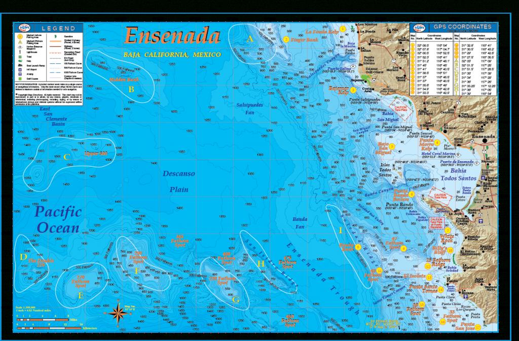 Ensenada - Baja Directions - Southern California Fishing Spots Map