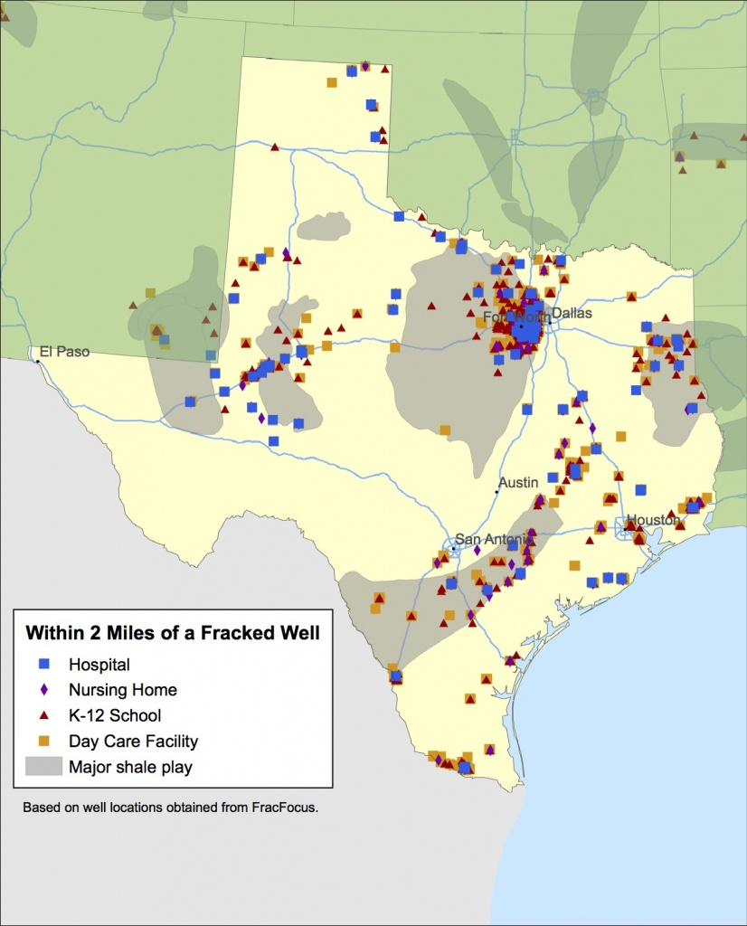 Enviros To Texas Lawmakers: What About The Fracking Kids? - Fracking In Texas Map