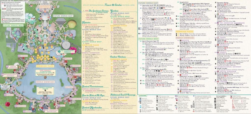 Epcot Flower & Garden Festival Map 2019 At Walt Disney World - Epcot Florida Map