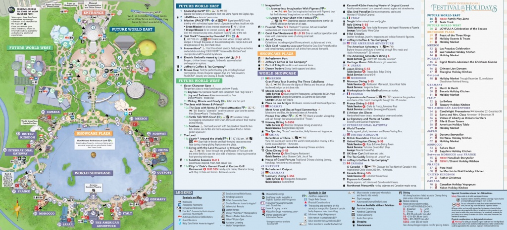 Epcot International Festival Of The Holidays Map 2018 At Walt Disney - Epcot Park Map Printable